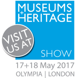 Visit us at the museums and heritage show, 17-18 May 2017, Olympia, London
