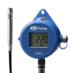 TV-4505 Tinytag View 2 temperature and relative humidity data logger with digital display and attached temp/RH probe