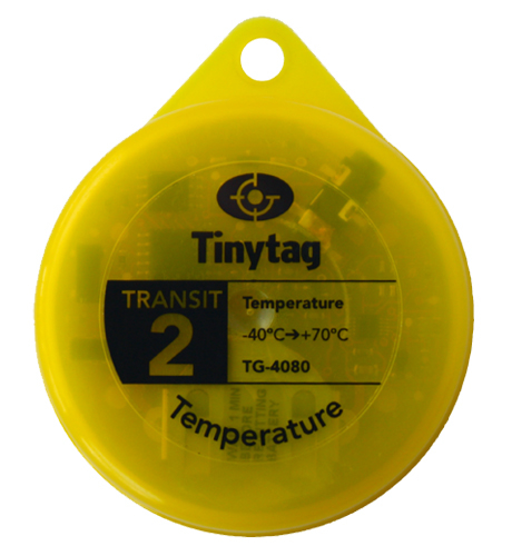 TG-4080 Tinytag Transit 2 yellow temperature data logger - top view