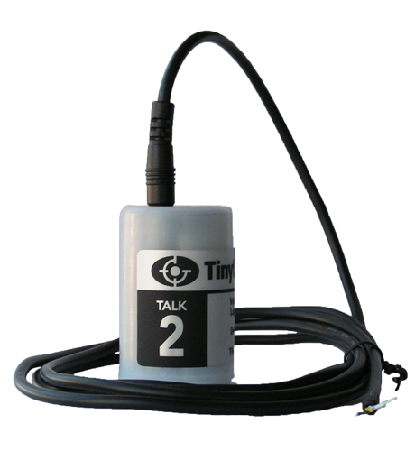 TK-4802-PK Tinytag Talk 2 voltage data logger with input lead attached