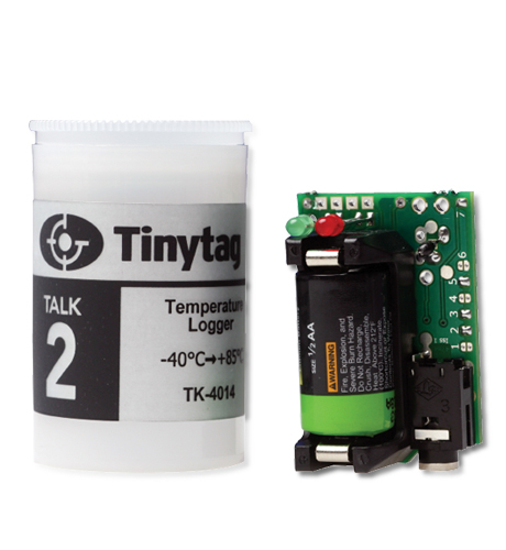 TK-4014 Tinytag Talk 2 temperature data logger with 35mm film canister case