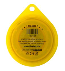 TG-4080 Tinytag Transit 2 - back view with warning info