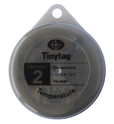 TG-4081 Tinytag Transit 2 grey temperature data logger - top singular view