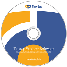 Tinytag Explorer software CD drawing
