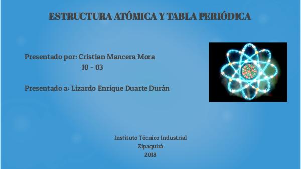 estructura atmica y tabla peridica by cristianmancera404 on genially