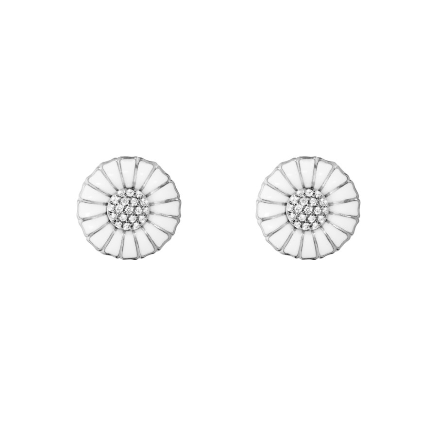 10010538 Daisy Earrings Silver Rh White Enamel 11 Mm Diamond Pave 0 11 Jpg Max 3000X3000 444512