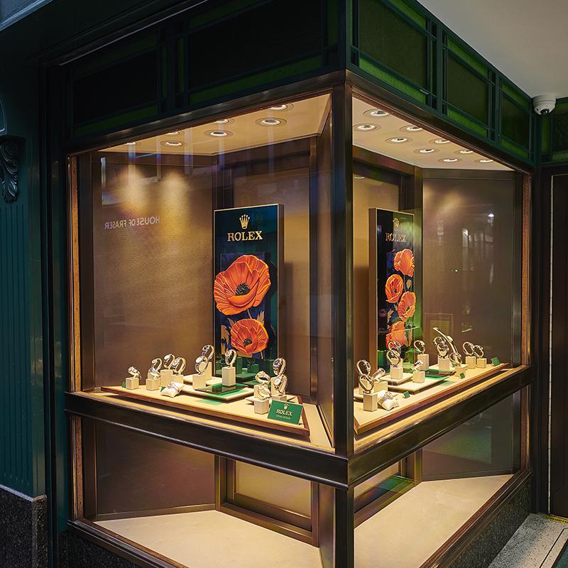 One of GHewitts Rolex Window displays