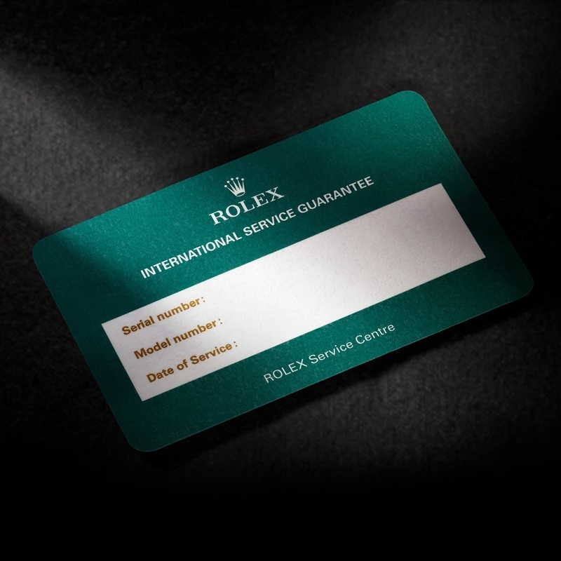 Service Card to show service details of a Rolex watch