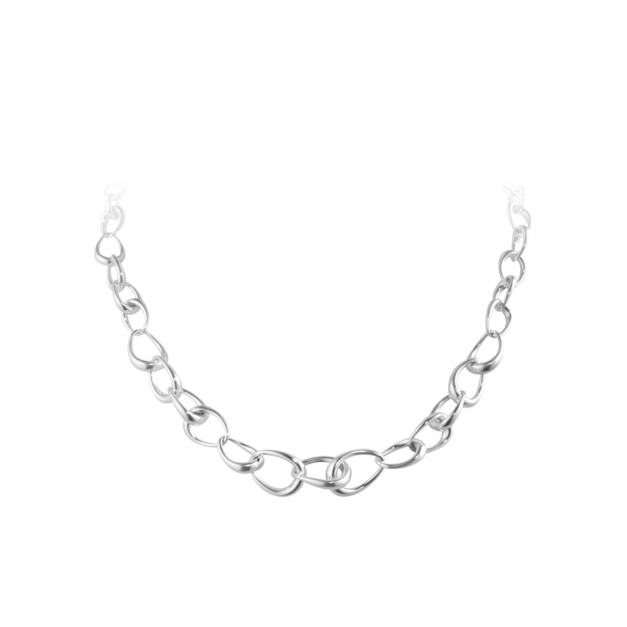 10012558 Offspring Graduated Link Necklace 433 Silver Jpg Max 3000X3000 432123