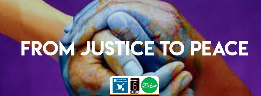 Justice - Practice law for peace and strong Instituations