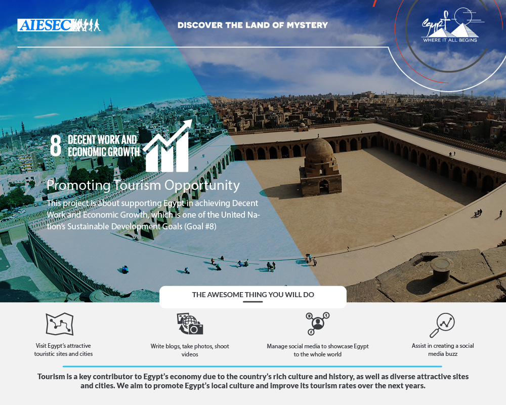 Explore Egypt - Promoting tourism SDG #8
