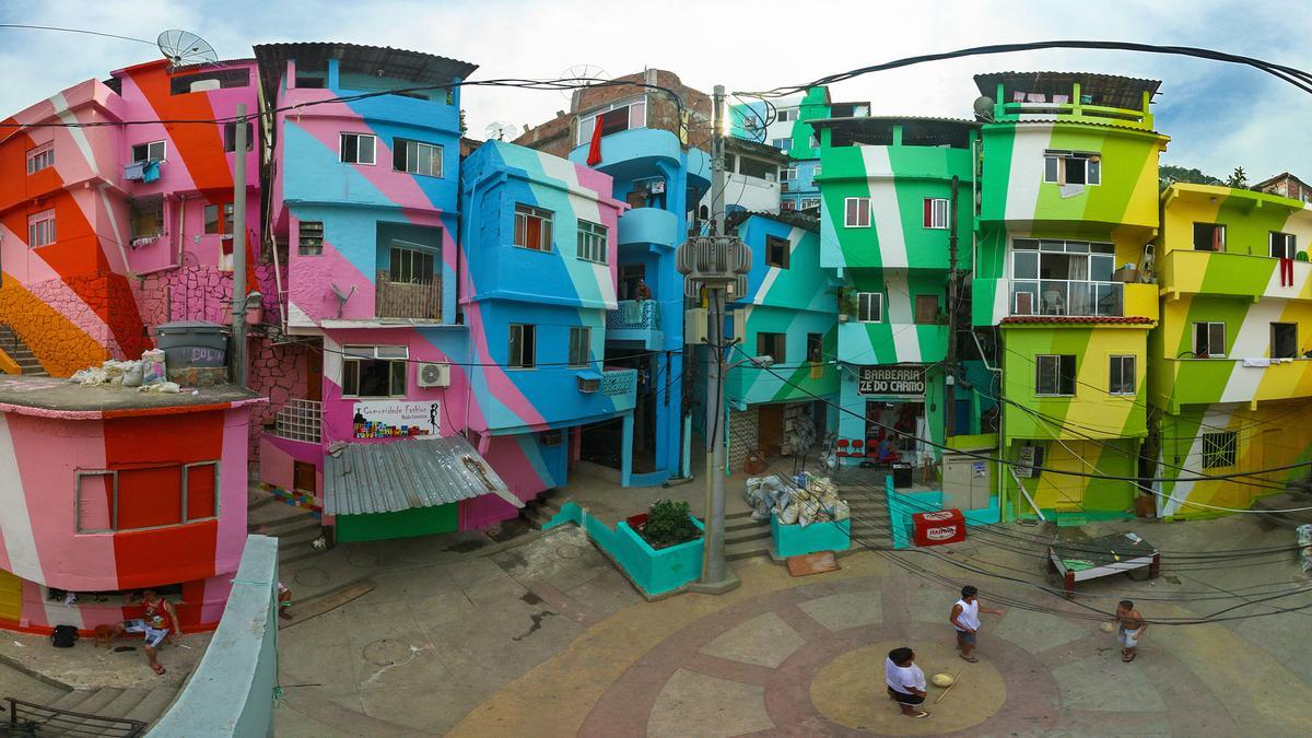 Painting Old Buildings in Poor Areas - No Poverty