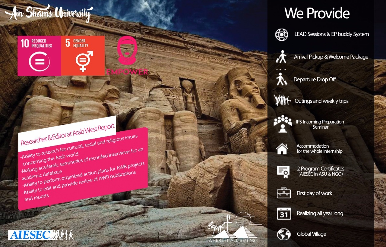 Researcher & Editor at Arab West Report in Egypt | Empower