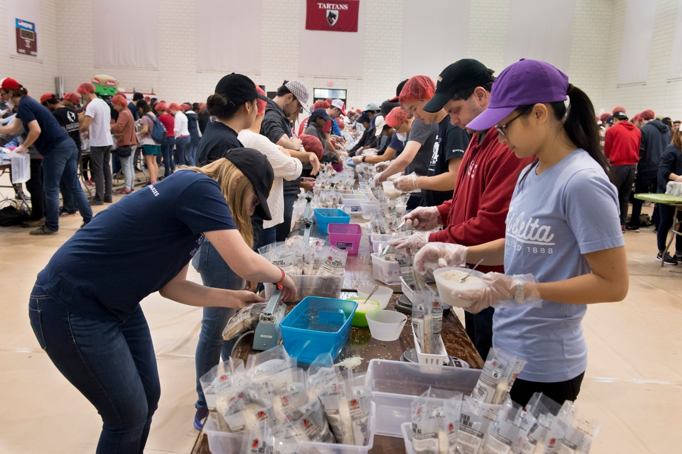 Food and Clothes Packing for the Poor-Zero Hunger