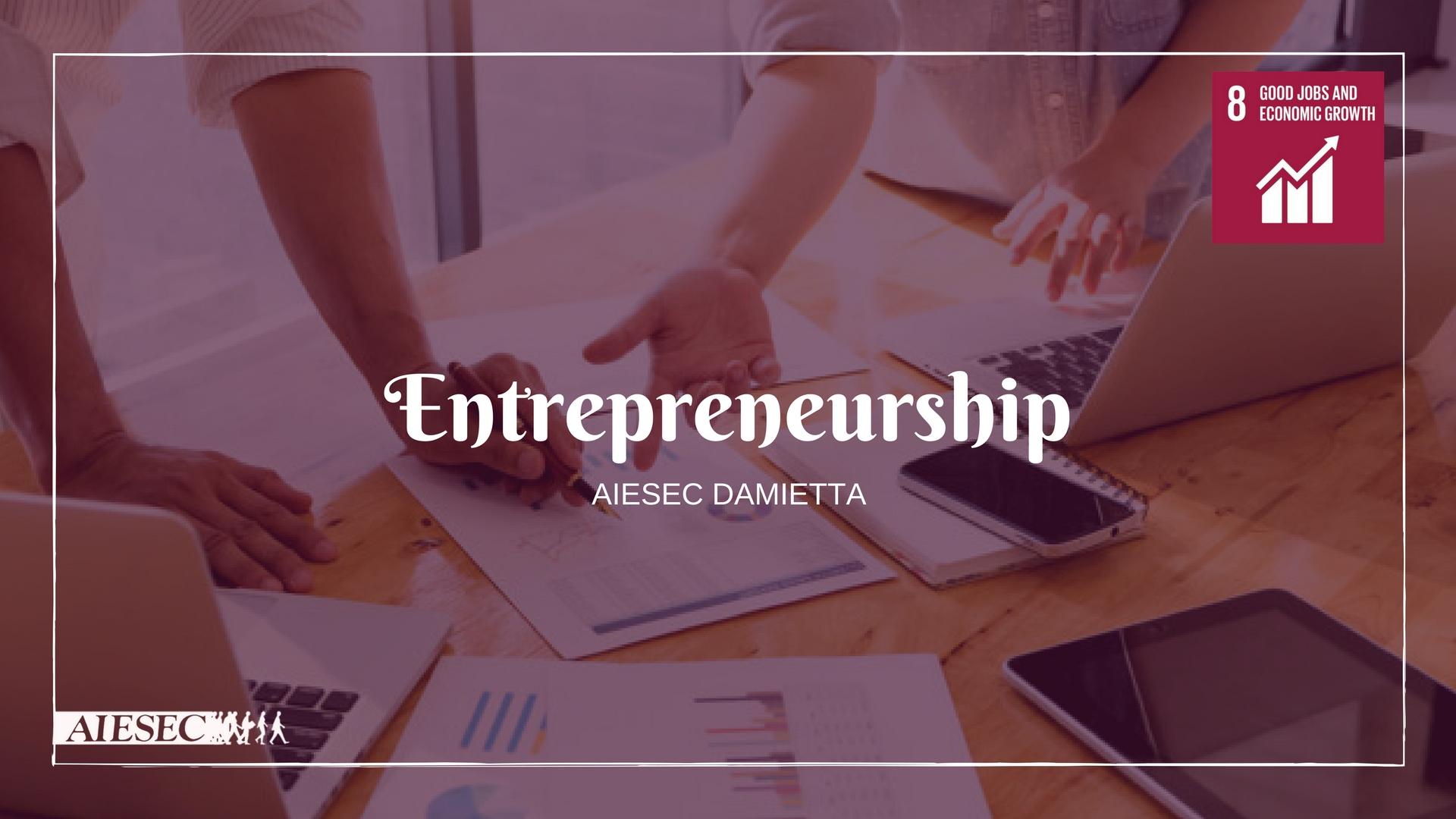 Entrepreneurship- Egypt -Decent work and economic growth