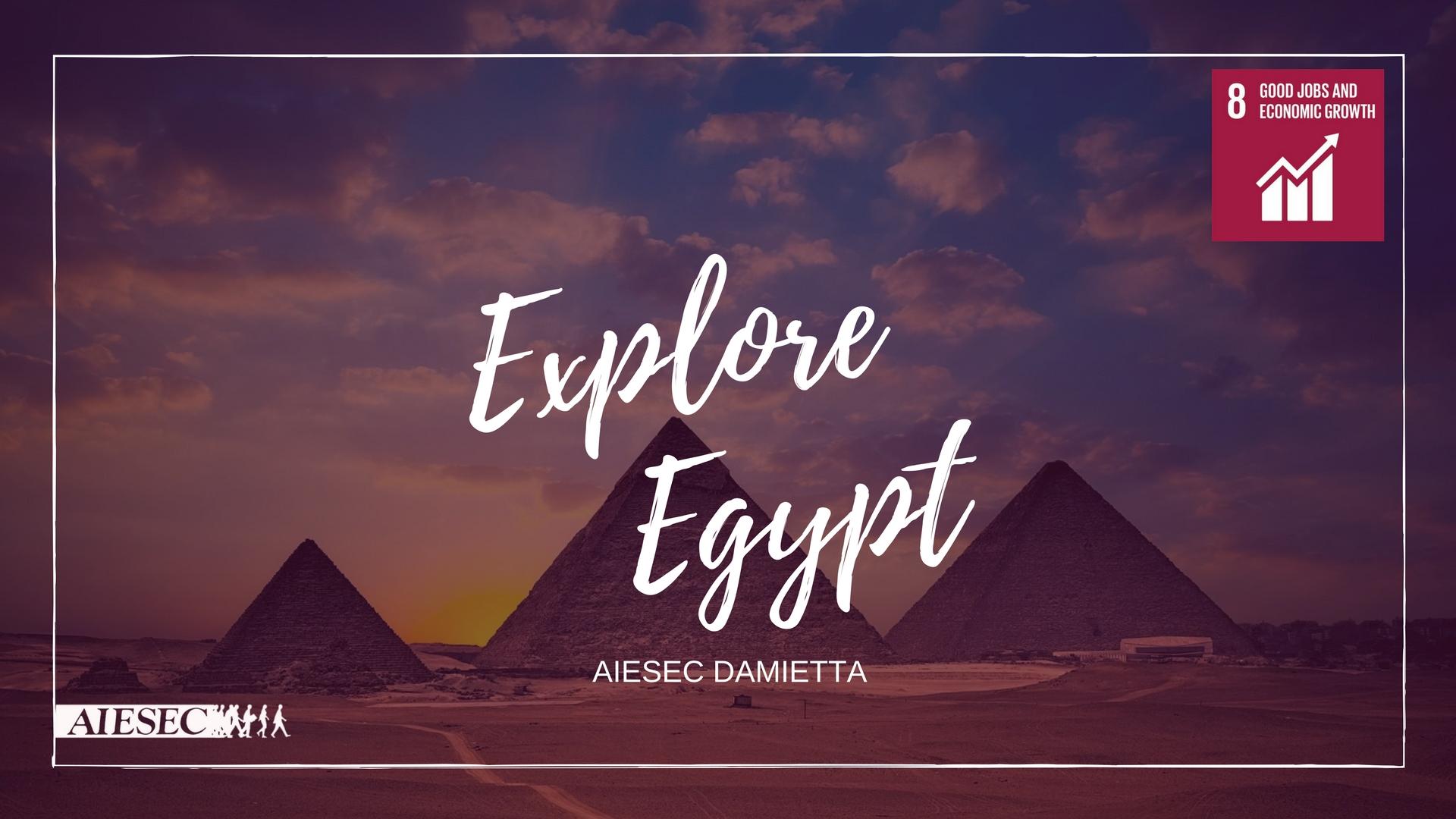 Explore  Egypt  for promoting tourism