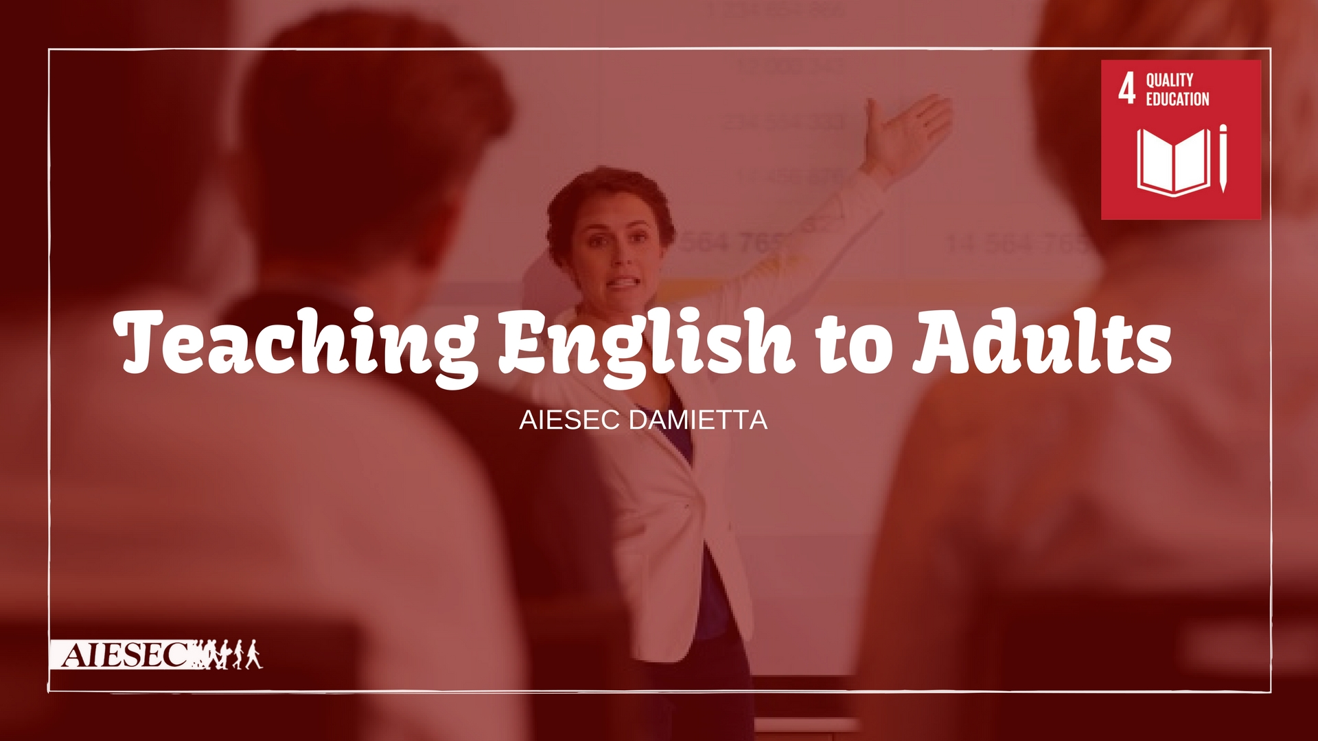 Teaching English To Adults for Quality Education