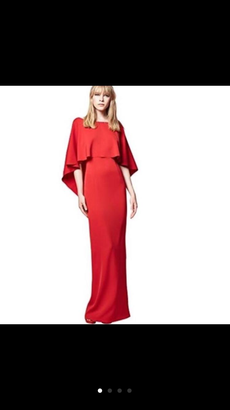 Vestido largo rojo ETXART & PANNO