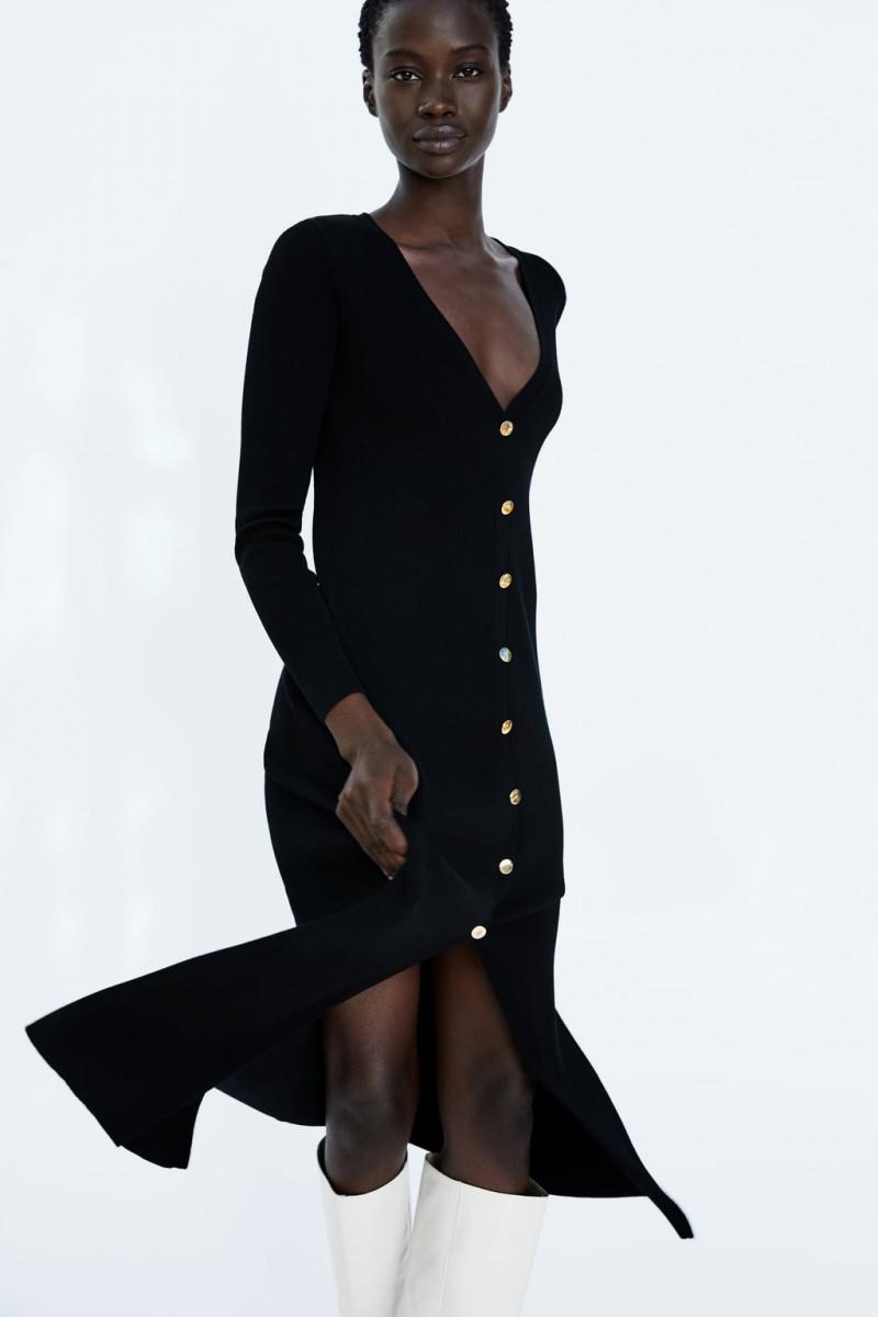 glamy vestido mostaza zara punto