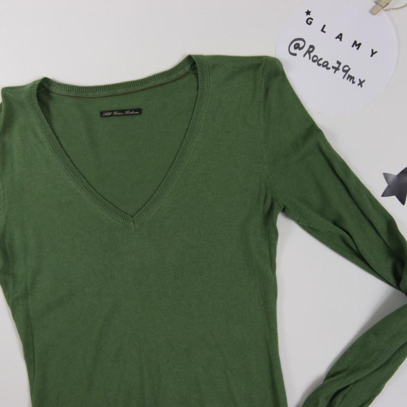 Chaleco verde manga larga