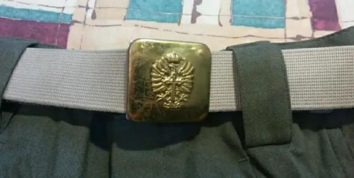 Pantalón y cinturón del ejercito