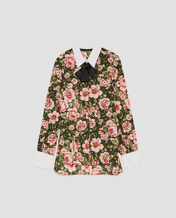 suave y ligero comprar baratas nuevos productos para Camisa flores Zara, M || Detalle del producto || Glamy