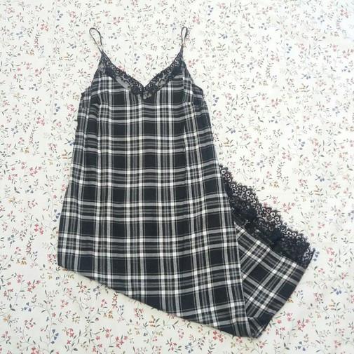 Del Glamy Zara Vestido Producto Encaje Lencero NegroDetalle