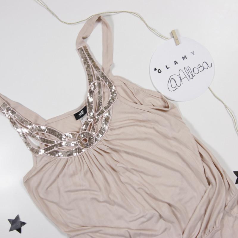 Camisa rosa clara con pedrería H&M