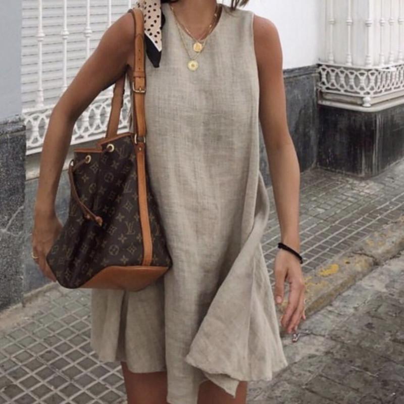 Vestido lino Zara