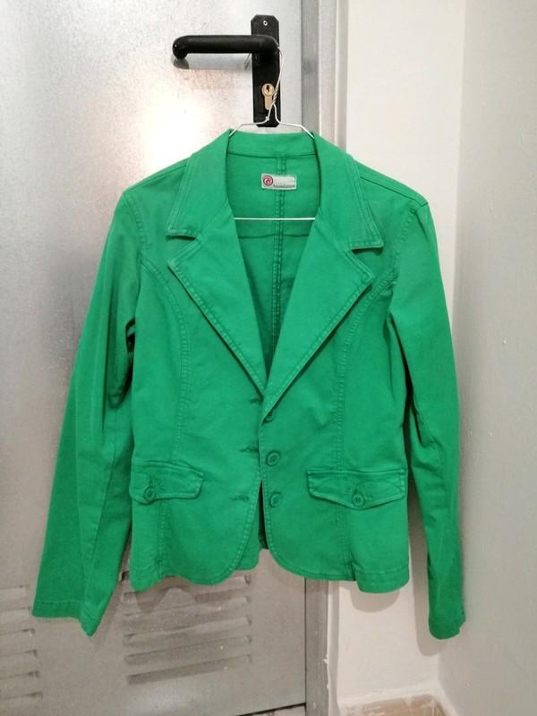 Chaqueta blazer verde