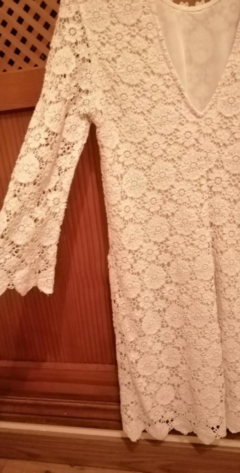 Vestido Zara encaje blanco