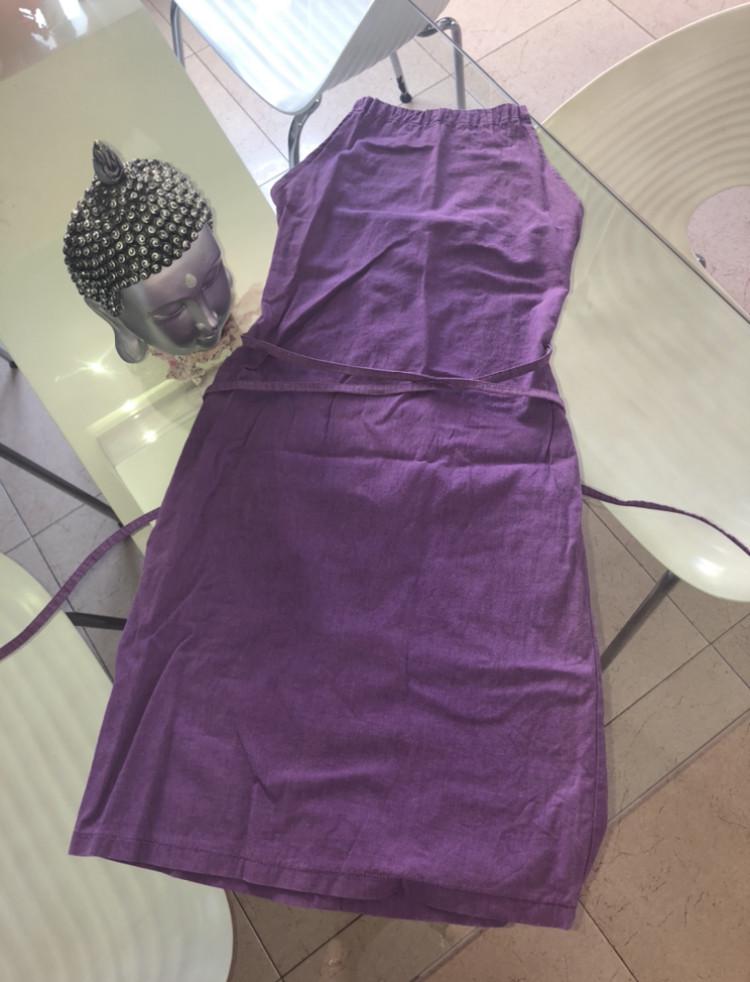Vestido de lino Bershka Xs