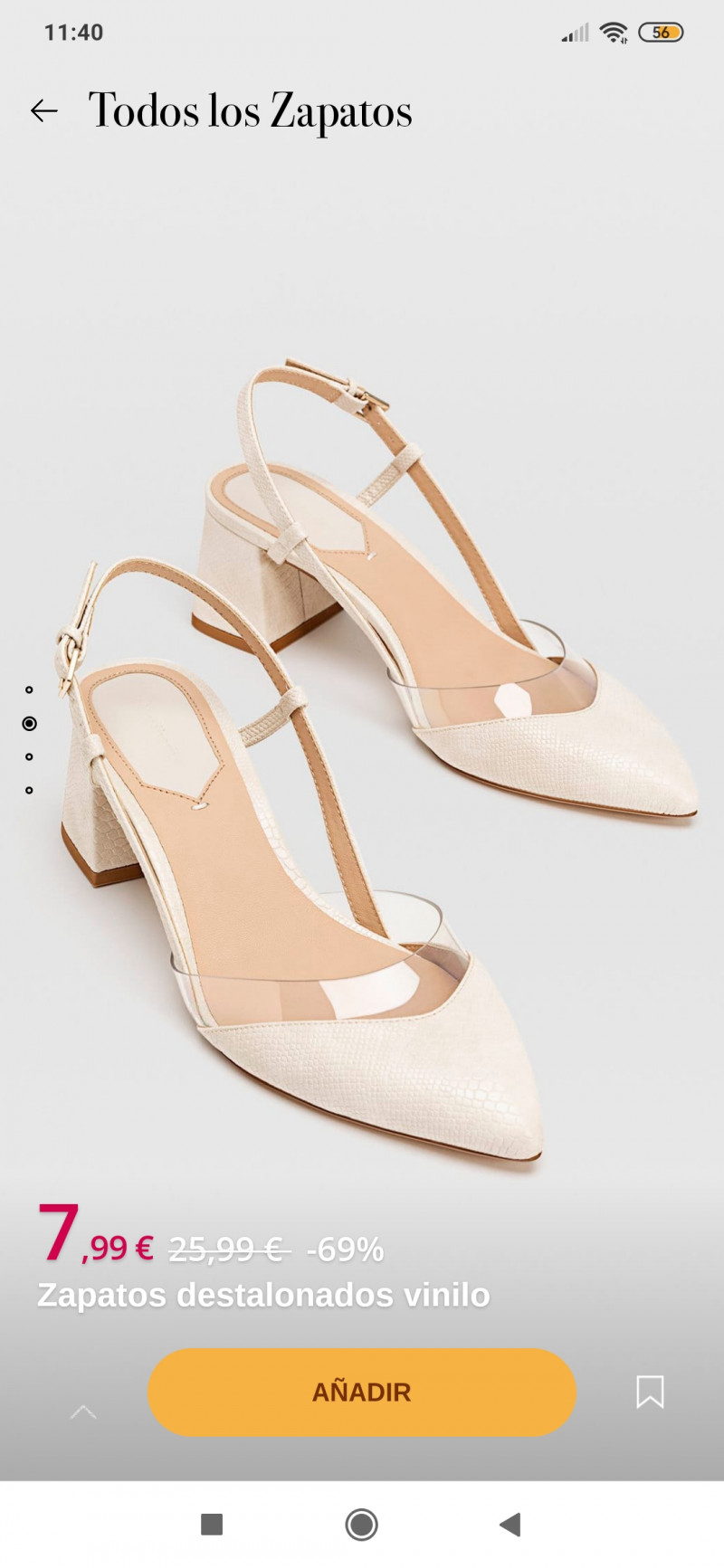 Zapatos destalonados