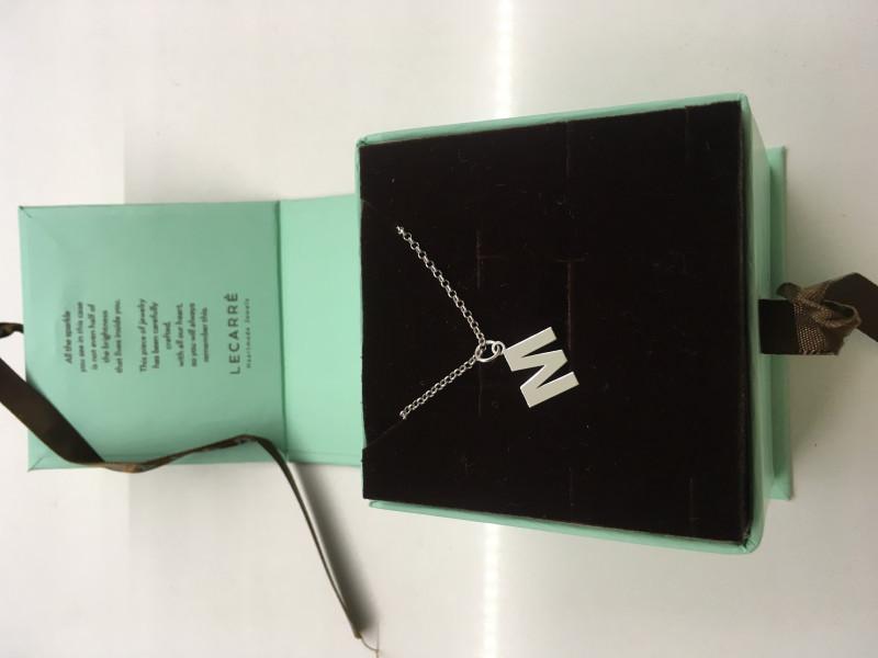 Collar plata+colgante M Le Carré