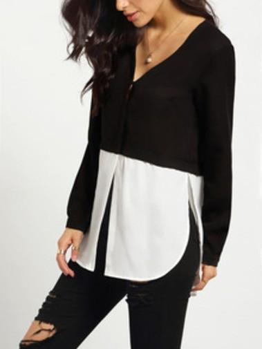 Blusa en blanco y negro.