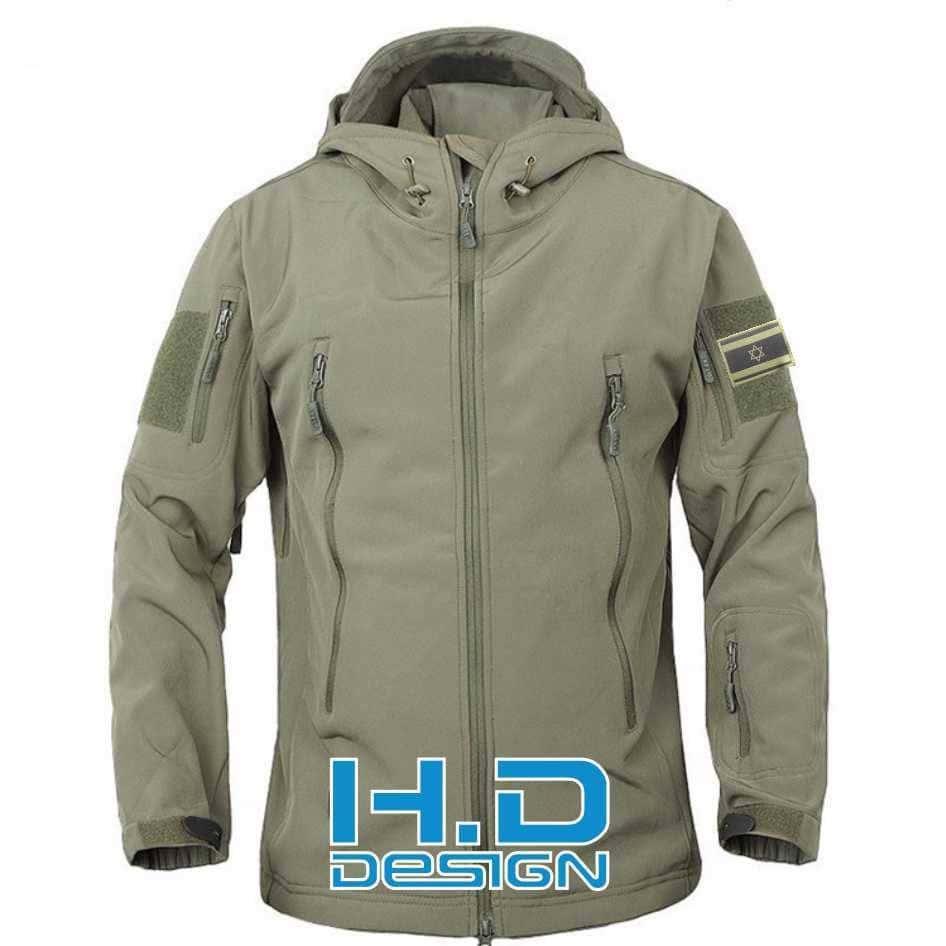 מעיל סופטשל מומלץ | פליז צבאי עם רקמה | פליז סופטשל
