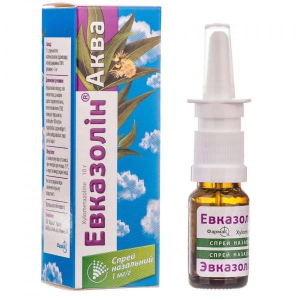 Эвказолин Аква 1 мг/г 10 мл спрей