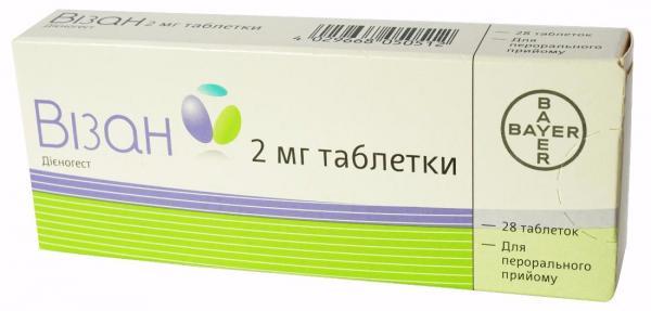 Визан 2 мг N28 таблетки