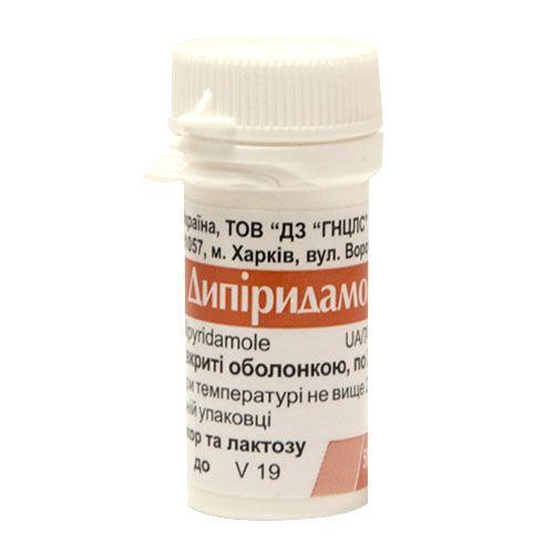 Дипиридамол 0.025 N50 таблетки