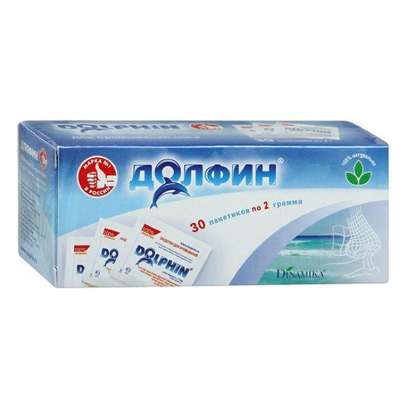 Средство Долфин для устройства оториноларингологического для промывания носа пакетик 2г №30 (рецепт №1)