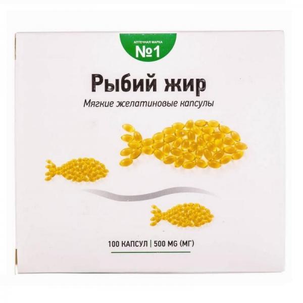 Рыбий жир океанический 500 мг №100 капсулы - Sirio Co.Ltd.,Китай