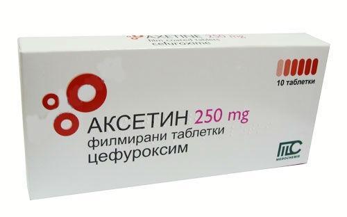 Аксетин 250 мг №10 таблетки