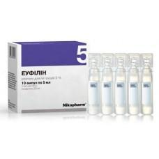 Эуфиллин 20 мг/мл 5 мл №10 раствор для инъекций