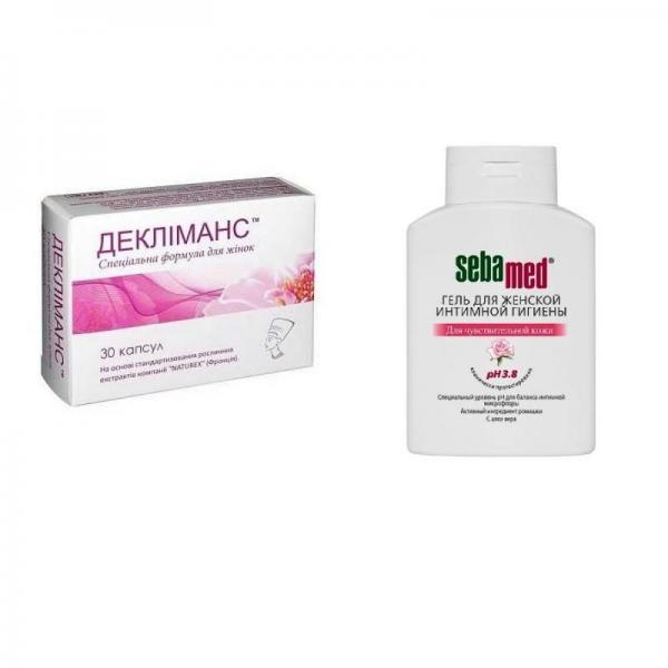 Деклиманс №30 капсулы + Себамед 200 мл гель для интимной гигиены для женщин pH 3.8 Акция