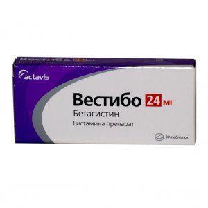 Вестибо 24 мг N20 таблетки