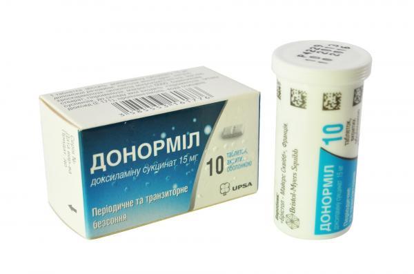 Таблетки Донормил  15 мг №10