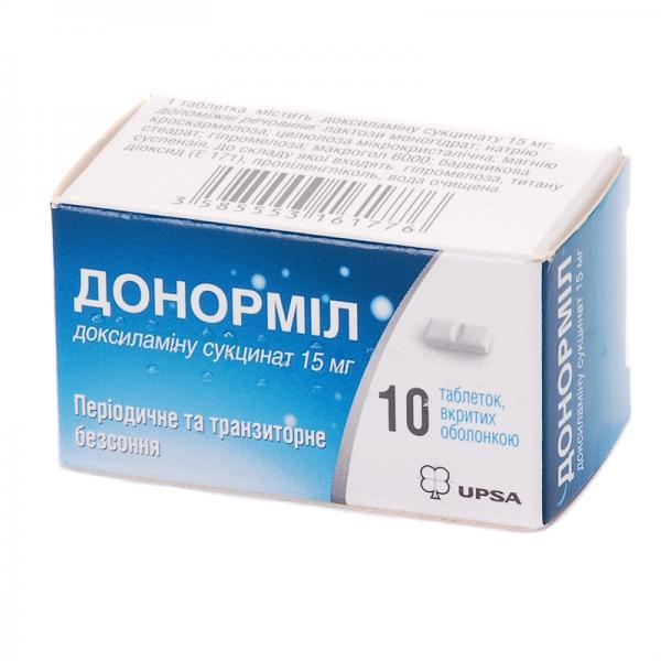 Донормил 15 мг №10 табетки