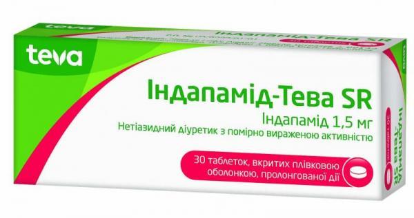 Индапамид-Тева SR 1.5 мг №30 таблетки