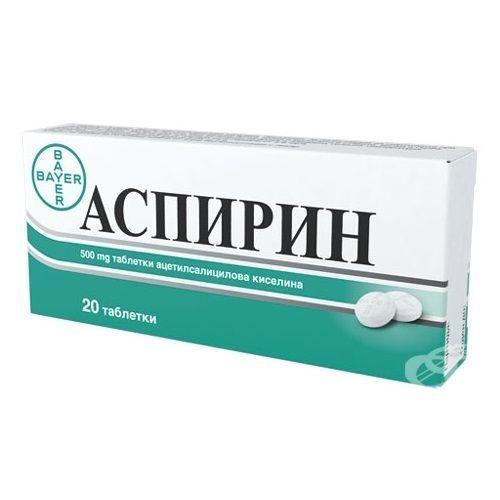 Аспирин 500 мг N20 таблетки