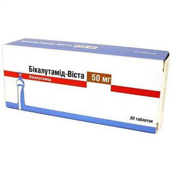 Бикалутамид-Виста 50 мг N30 таблетки